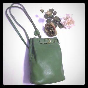 Coach vintage Cornelia green leather sling bucket